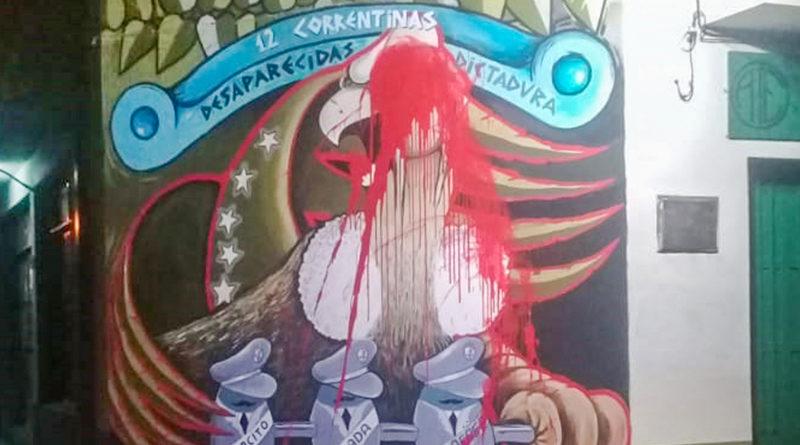 Tercer ataque cobarde y negacionista contra mural en homenaje a víctimas de la dictadura cívico-militar