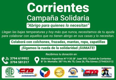 """Campaña solidaria """"Abrigo para quienes lo necesitan"""""""