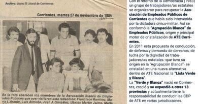 """Origen correntino: de la """"Agrupación Blanca"""" a la """"Verde y Blanca"""" nacional"""