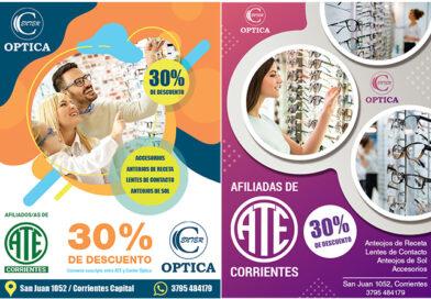 Descuento del 30% en ptica para afiliados y afiliadas de ATE Corrientes