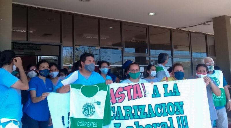 Basta de despidos y más ajustes en Salud Pública de Corrientes